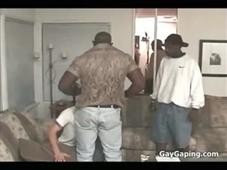 white boy fuck two black monster cocks